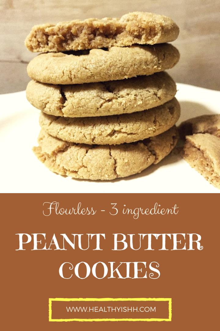 3 Ingredient Peanut Butter Cookies(flourless)