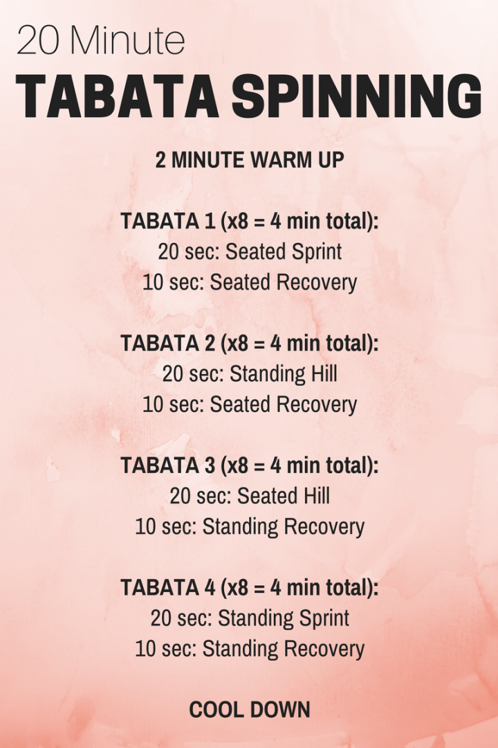 20-Minute Tabata Cycle Workout